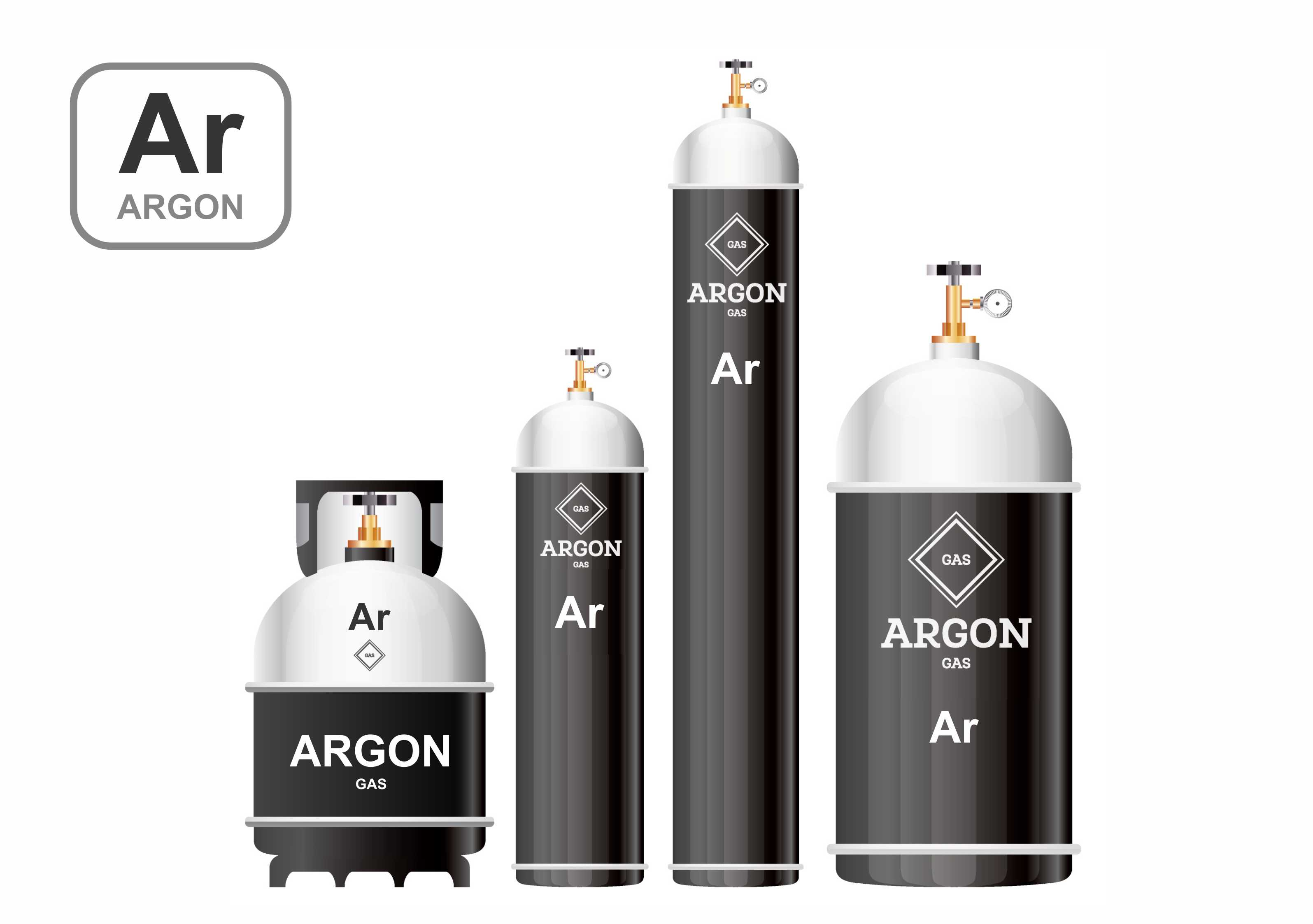 Liquid and gaseous argon